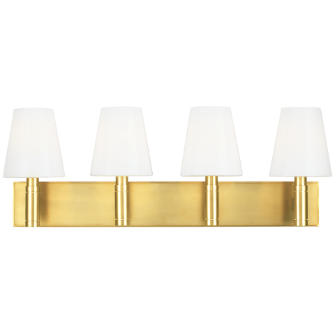 Beckham Classic 4 - Light Vanity Burnished Brass