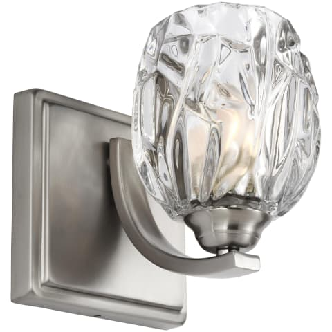 Kalli 1 - Light Wall Sconce Satin Nickel Bulbs Inc