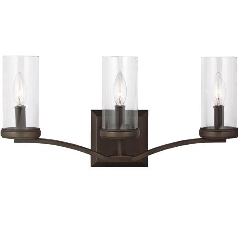 Jacksboro 3 - Light Vanity Dark Antique Copper / Antique Copper