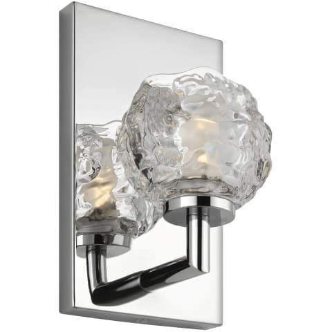 Arielle 1 - Light Wall Sconce Chrome Bulbs Inc