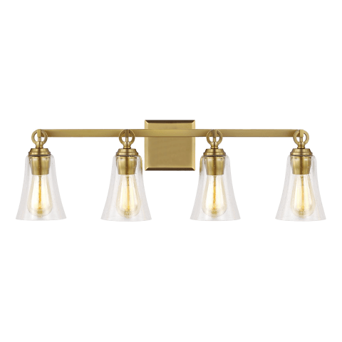 Monterro 4 - Light Vanity Burnished Brass