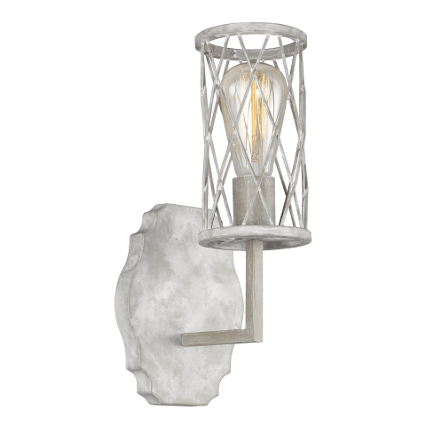 Cosette 1 - Light Wall Sconce French Washed Oak / Distressed White Wood
