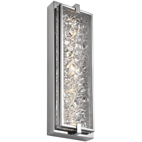 """Erin 19"""" Tall LED Indoor / Outdoor Wall Sconce Polished Stainless Steel Bulbs Inc"""