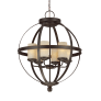 Sfera Six Light Chandelier Autumn Bronze