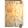 Essex Wall Shell Natural satin nickel incandescent 120v