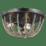 Oglesby Three Light Flush Mount Washed Pine Bulbs Inc