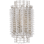 Serafina Small Tiered Sconce in Polished Nickel with Crystal