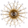 Keaton Wire Floral Sconce in Gild