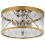 Darcy Small Flush Mount in Soft Brass with Crystal