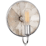 Rivington Small Round Sconce in Polished Nickel with Ribbed Mirror