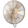 Rivington Large Round Sconce in Polished Nickel with Ribbed Mirror