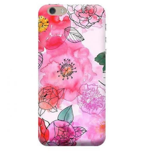 Funda Case Love Flores A iPhone SE / 5 / 5S - Blanco