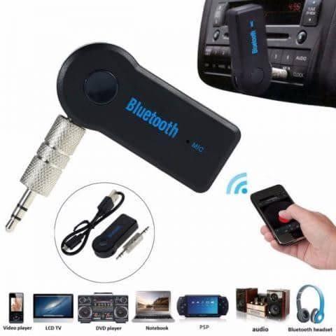 Receptor Bluetooth Auxiliar 3.5 Mm con Micrófono - Negro