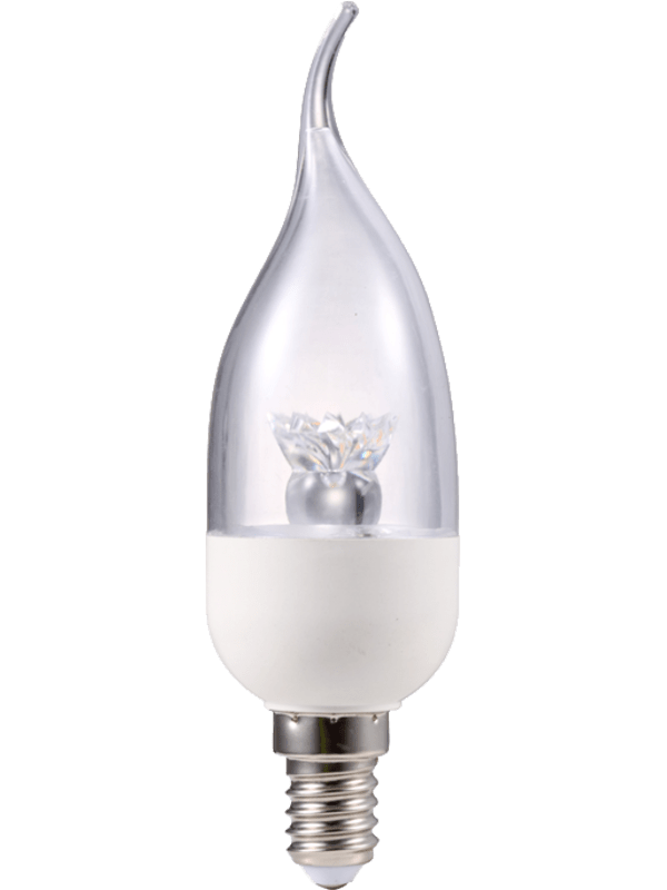 Led lamp b kaars crystal e14 5w 3000°k