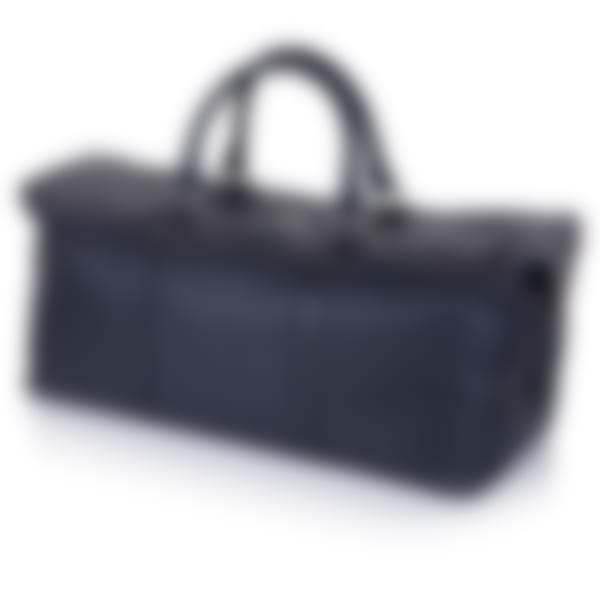 Midnight Richmond leather duffle bag side