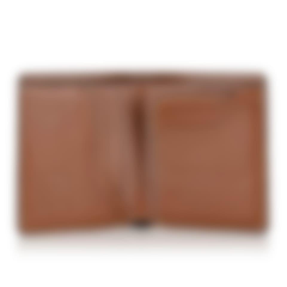 Livingstone leather bifold wallet open