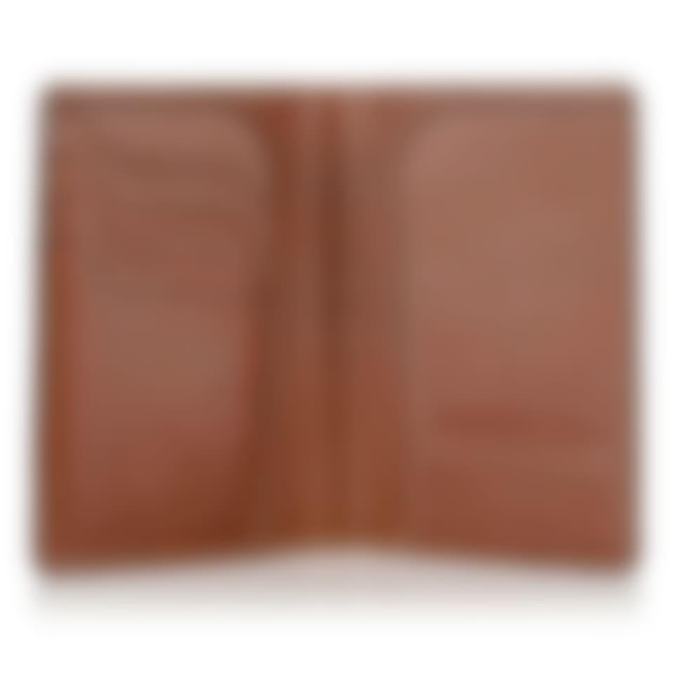 Livingstone leather passport wallet open