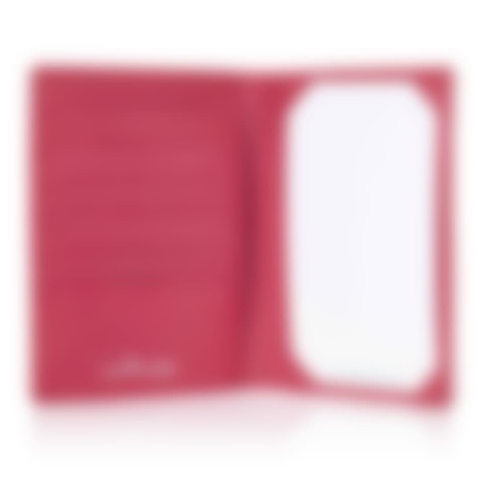 Oak Grain leather jotter wallet and passport holder open