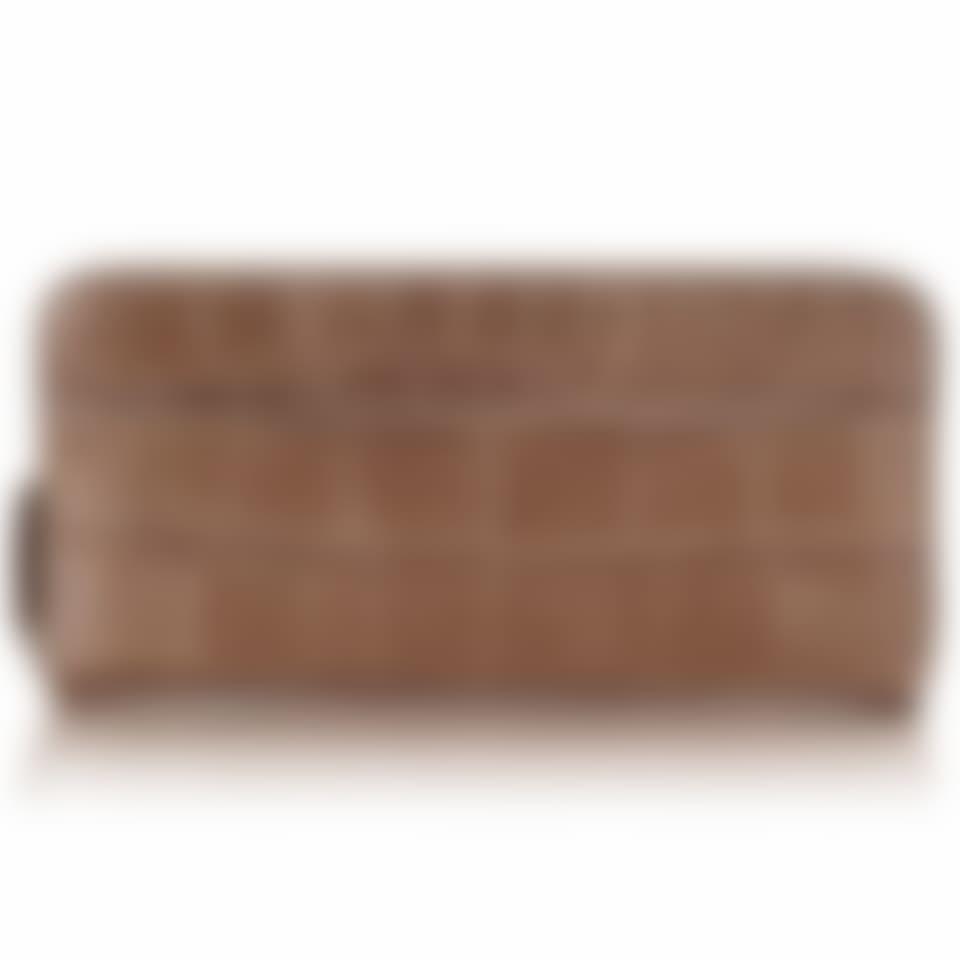 Serengeti croc leather zip around wallet