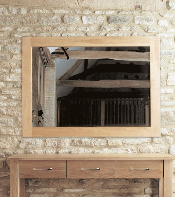Mobel Light Oak Medium Wall Mirror