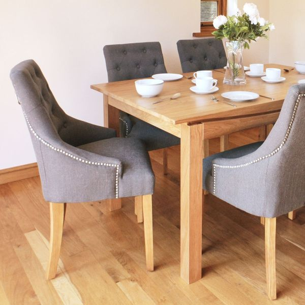 Roscoe Contemporary Oak Large Dining Table