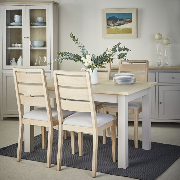 Rushbury Painted Extending Dining Table and Four Chairs