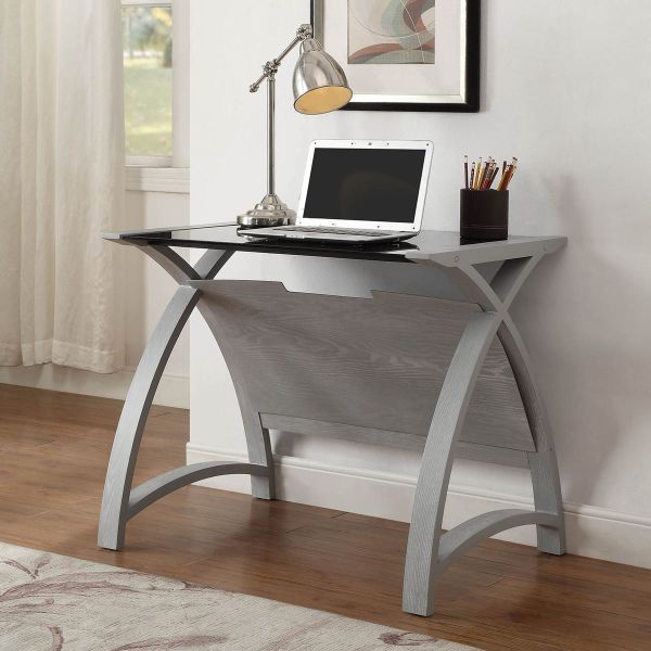 Curve Home Office Grey Ash Table (90cm)