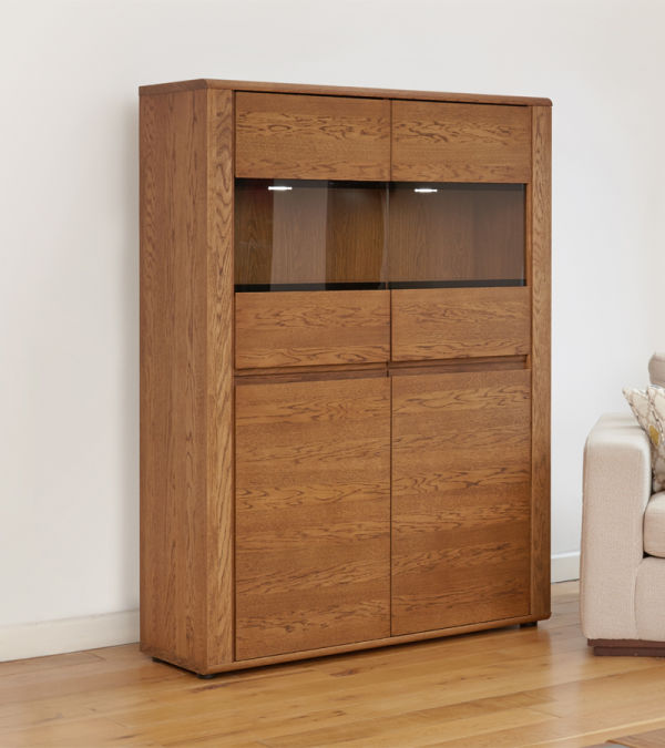 Olten Oak Low Display Cabinet