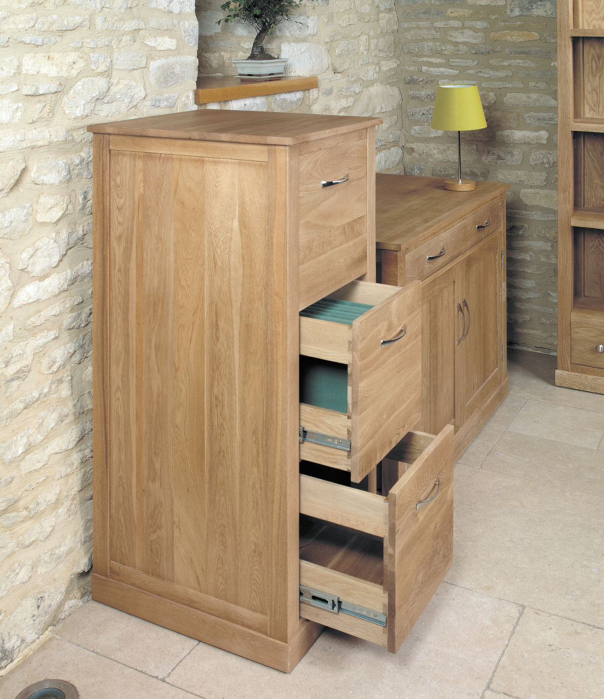 Mobel Oak Three Drawer Filing Cabinet Was 540 00 Now 489 00