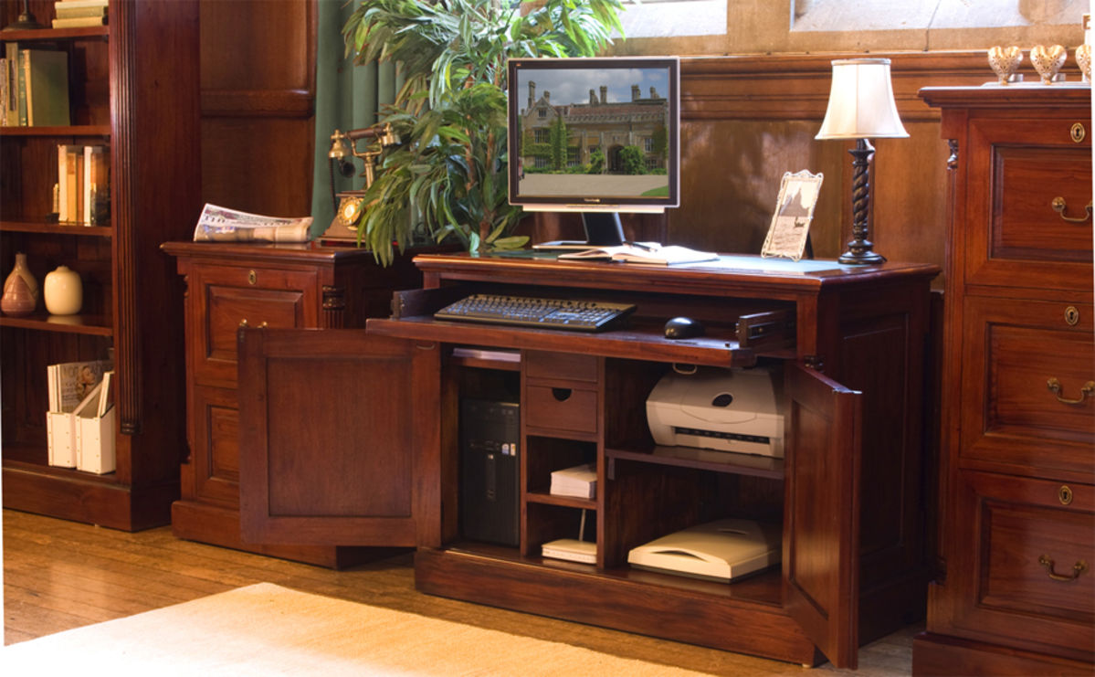 Home Office Furniture At Wooden Furniture Store: La Roque Mahogany Hidden Home Office Was £840.00 Now £729