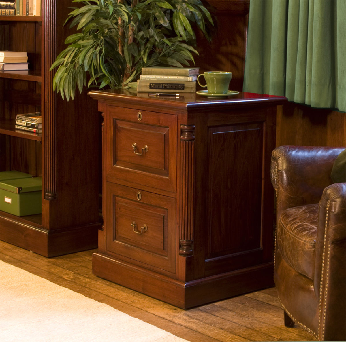 Home Office Furniture At Wooden Furniture Store: La Roque Mahogany Two Drawer Filing Cabinet Was £600.00