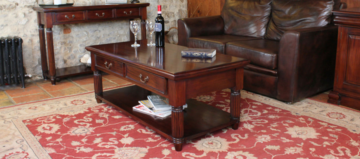 Mahogany Coffee Table With Drawers La Roque
