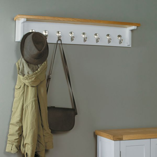 Buy Mobel Oak Light Reversible Wall Rack Online At Wooden