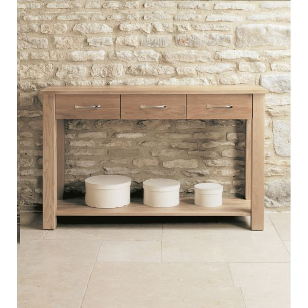 Mobel Light Oak Console Table