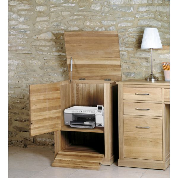 Mobel Light Oak Printer Cupboard