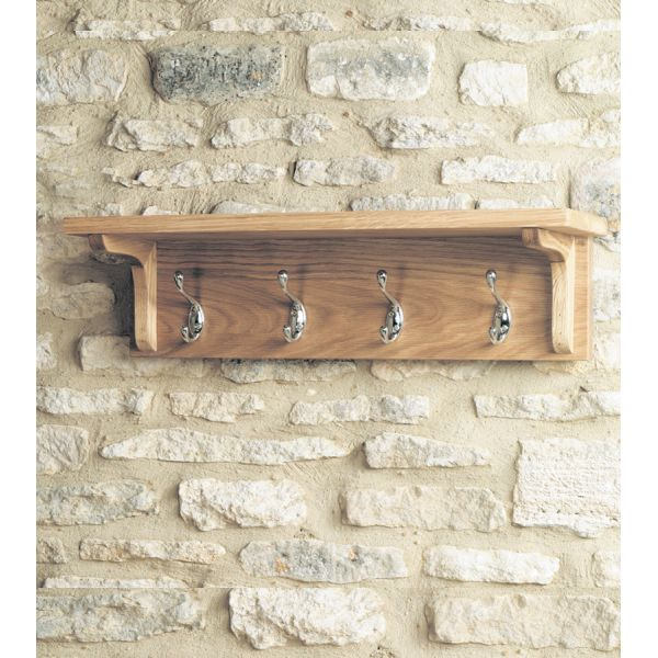 Mobel Light Oak Wall Mounted Coat Rack