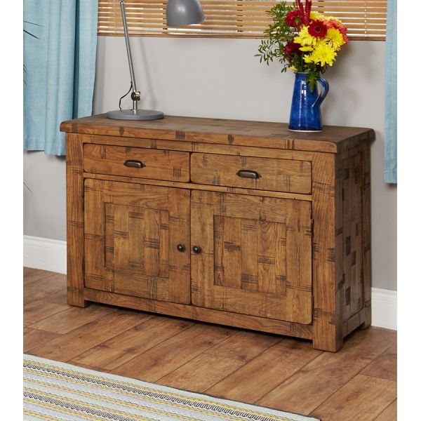 Rough Sawn Oak Small Sideboard