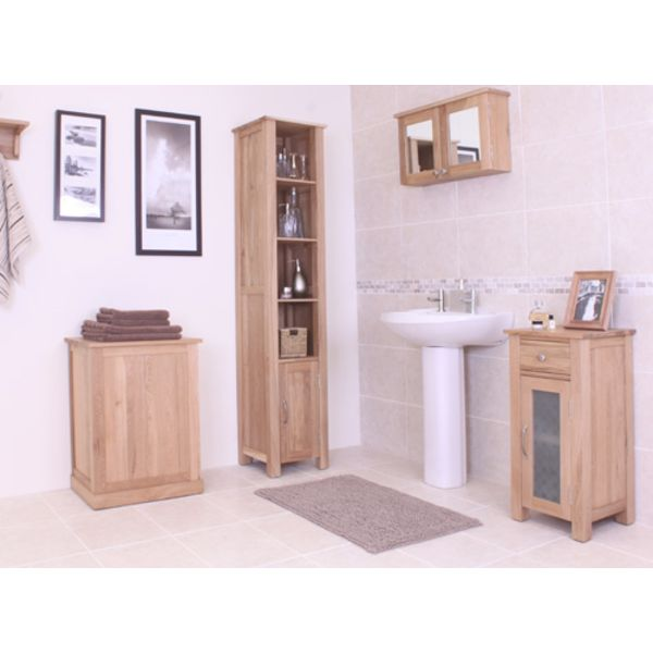 Mobel Light Oak Laundry Bin