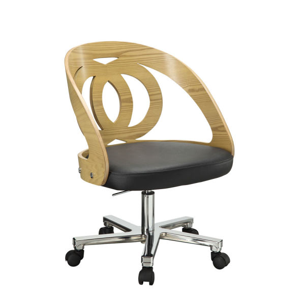 Curve Home Office Oak Chair