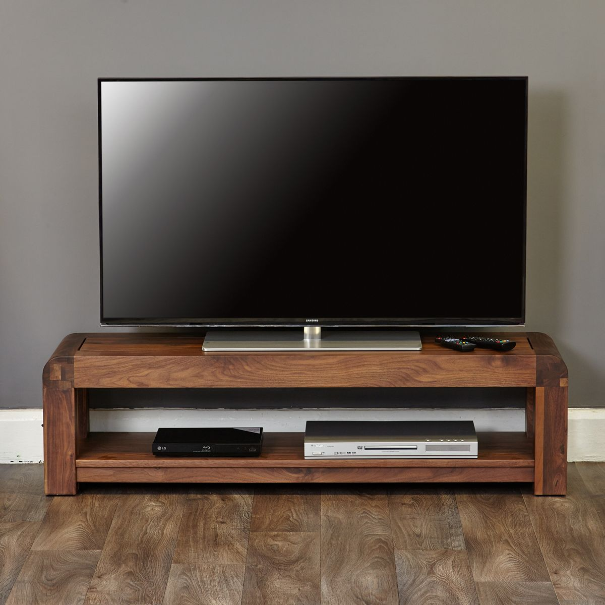 Shiro Walnut Low Tv Cabinet Wooden Furniture Store