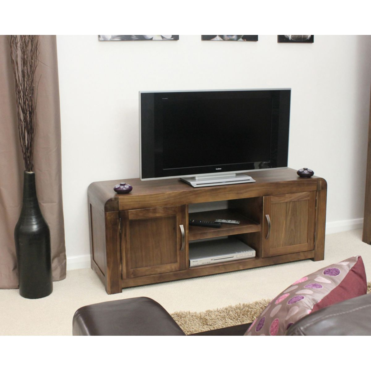 Buy Shiro Walnut Widescreen Television Cabinet Online At