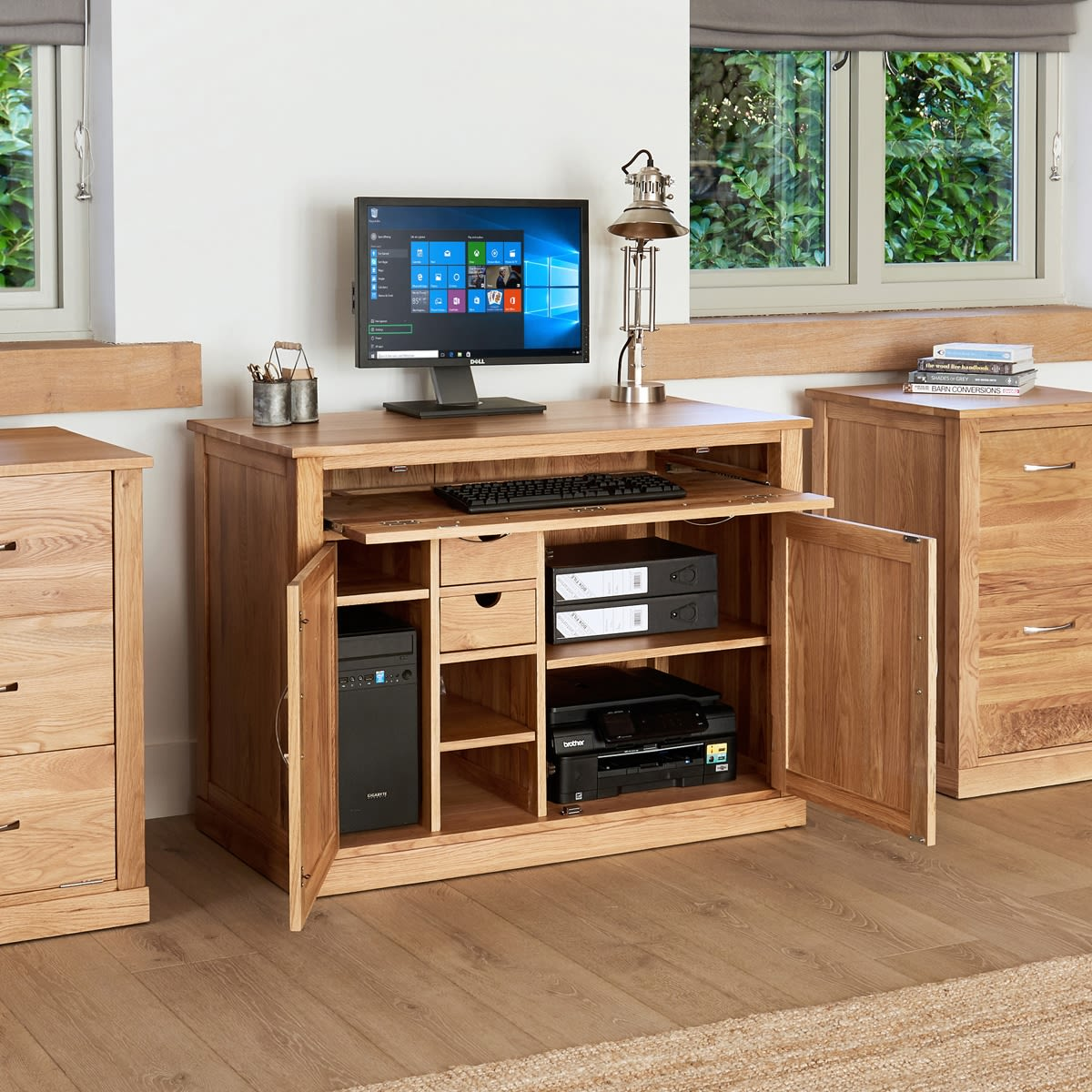 Mobel Oak Hidden Home Office Workstation Was 163 660 00 Now 163
