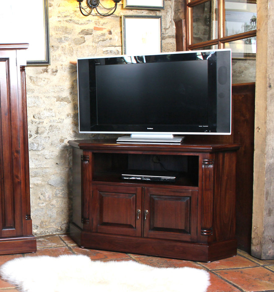 Mahogany Corner Television Cabinet Wooden Furniture Store