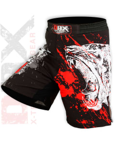 Sublimated Muay Thai MMA Kickboxing Shorts Bear Print