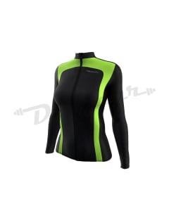 Cycling Jackets - Women-Black / Hi-Viz Green-2X-Large