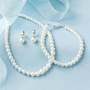 Three-Piece Pearl Jewelry Set