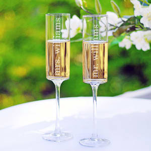 Contemporary Toasting Flutes
