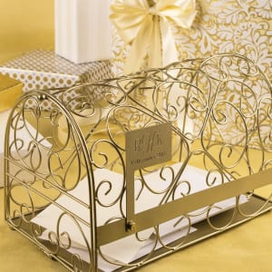 Personalized Gold Reception Gift Card Holder Mailbox