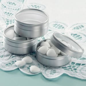 Aluminum Wedding Favor Tins