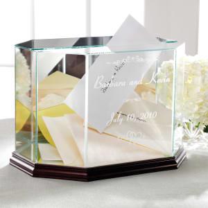 Personalized Glass Wedding Keepsake Box